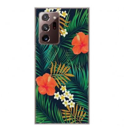 Coque en silicone pour Samsung Galaxy Note 20 Ultra - Tropical