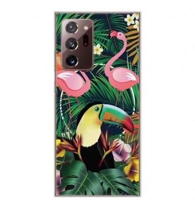 Coque en silicone Samsung Galaxy Note 20 Ultra - Tropical Toucan