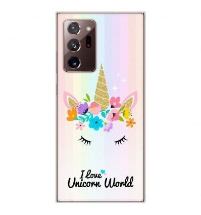 Coque en silicone Samsung Galaxy Note 20 Ultra - Unicorn World