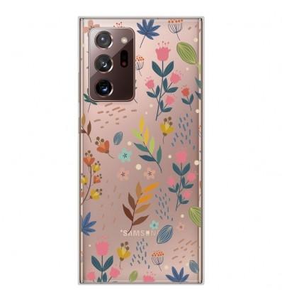 Coque en silicone Samsung Galaxy Note 20 Ultra - Fleurs colorées