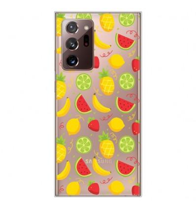 Coque en silicone Samsung Galaxy Note 20 Ultra - Fruits tropicaux