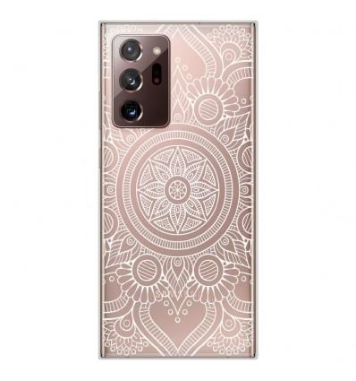 Coque en silicone Samsung Galaxy Note 20 Ultra - Mandala blanc