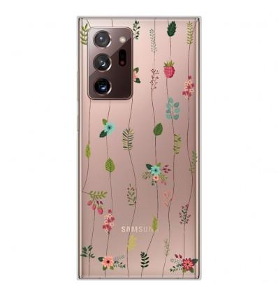 Coque en silicone Samsung Galaxy Note 20 Ultra - Montée de fleurs