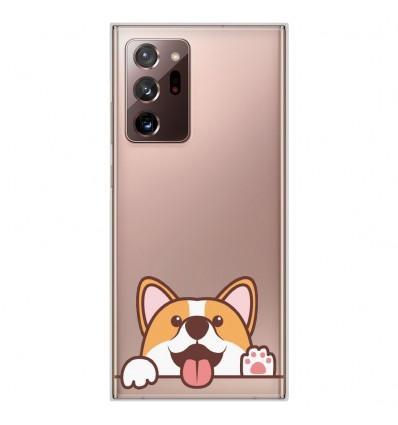 Coque en silicone Samsung Galaxy Note 20 Ultra - Coucou Corgi