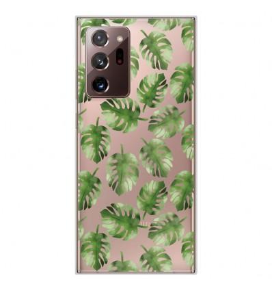 Coque en silicone Samsung Galaxy Note 20 Ultra - Feuilles de Monstera