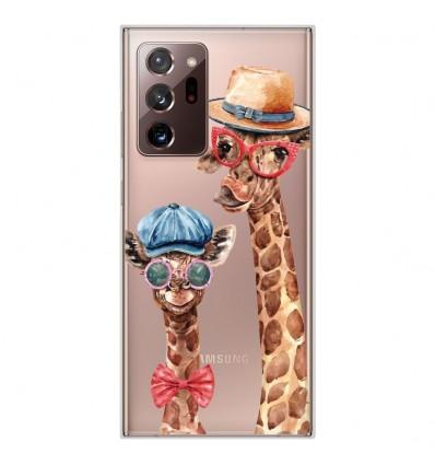 Coque en silicone Samsung Galaxy Note 20 Ultra - Funny Girafe