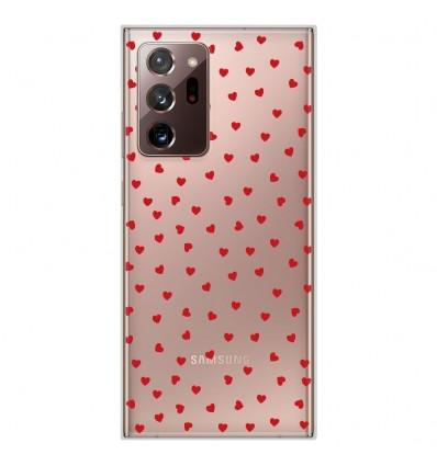 Coque en silicone pour Samsung Galaxy Note 20 Ultra - Pluie de Coeurs