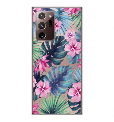 Coque en silicone Samsung Galaxy Note 20 Ultra - Tropical Aquarelle