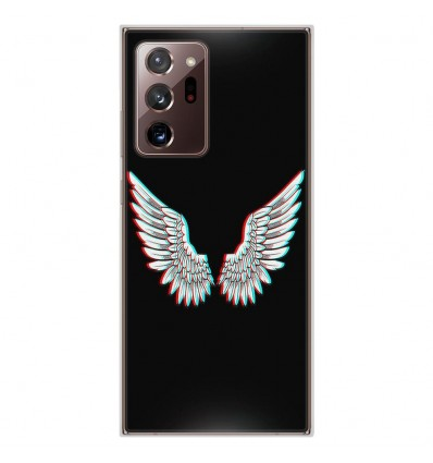Coque en silicone pour Samsung Galaxy Note 20 Ultra - Ailes d'Ange
