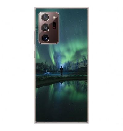 Coque en silicone Samsung Galaxy Note 20 Ultra - Aurores Boréales