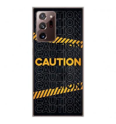 Coque en silicone Samsung Galaxy Note 20 Ultra - Caution