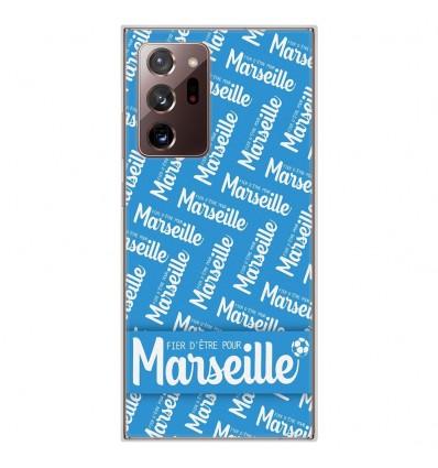 Coque en silicone pour Samsung Galaxy Note 20 Ultra - Fier d'être pour Marseille