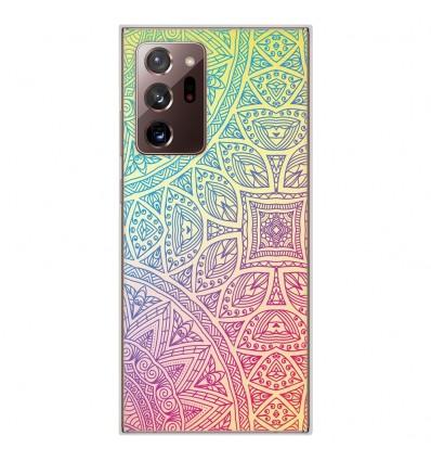 Coque en silicone pour Samsung Galaxy Note 20 Ultra - Mandala Pastel