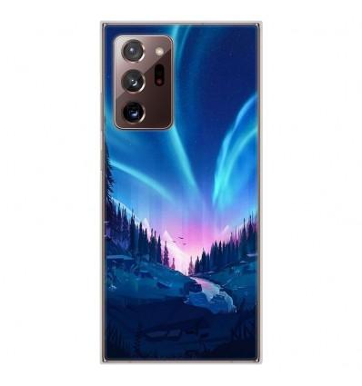 Coque en silicone pour Samsung Galaxy Note 20 Ultra - Tombée de nuit