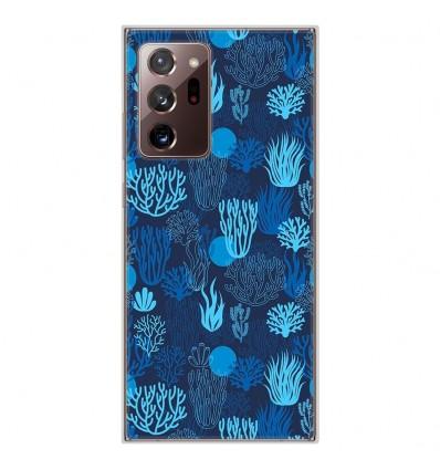 Coque en silicone Samsung Galaxy Note 20 Ultra - Corail bleu