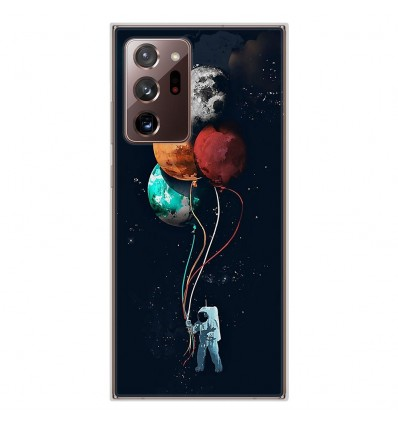 Coque en silicone Samsung Galaxy Note 20 Ultra - Cosmonaute aux Ballons