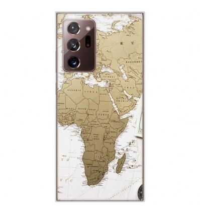 Coque en silicone Samsung Galaxy Note 20 Ultra - Map Europe Afrique
