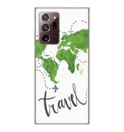 Coque en silicone Samsung Galaxy Note 20 Ultra - Map Travel