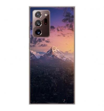 Coque en silicone Samsung Galaxy Note 20 Ultra - Montagnes urbaines