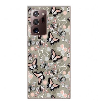 Coque en silicone Samsung Galaxy Note 20 Ultra - Papillons Vintage