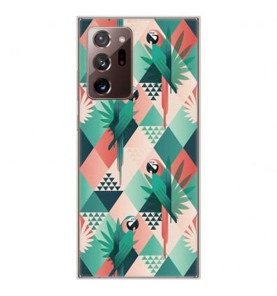 Coque en silicone Samsung Galaxy Note 20 Ultra - Perroquet géométrique