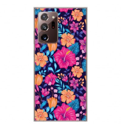 Coque en silicone Samsung Galaxy Note 20 Ultra - Fleurs Exotiques