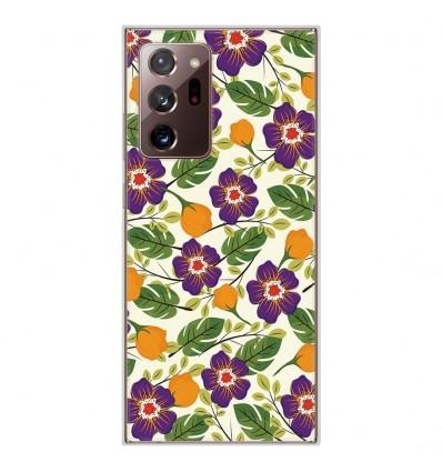 Coque en silicone Samsung Galaxy Note 20 Ultra - Fleurs Violettes
