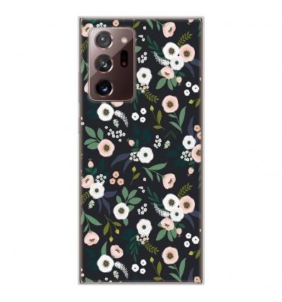 Coque en silicone pour Samsung Galaxy Note 20 Ultra - Flowers Noir