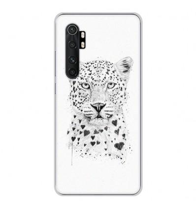 Coque en silicone Xiaomi Mi Note 10 lite - BS Love leopard