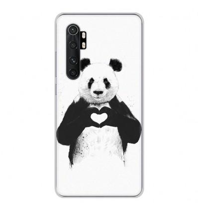 Coque en silicone Xiaomi Mi Note 10 lite - BS Love Panda