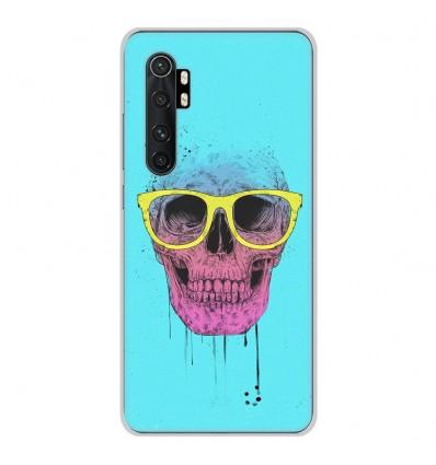 Coque en silicone Xiaomi Mi Note 10 lite - BS Skull glasses