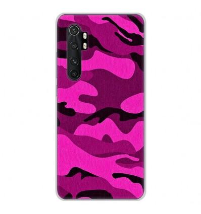 Coque en silicone Xiaomi Mi Note 10 lite - Camouflage rose