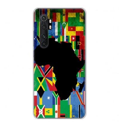 Coque en silicone Xiaomi Mi Note 10 lite - Drapeau Afrique