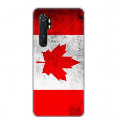 Coque en silicone Xiaomi Mi Note 10 lite - Drapeau Canada