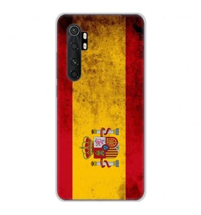 Coque en silicone Xiaomi Mi Note 10 lite - Drapeau Espagne