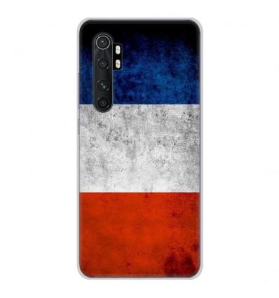Coque en silicone pour Xiaomi Mi Note 10 lite - Drapeau France