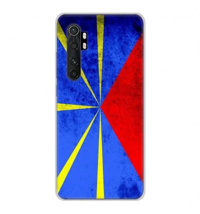 Coque en silicone pour Xiaomi Mi Note 10 lite - Drapeau La Réunion