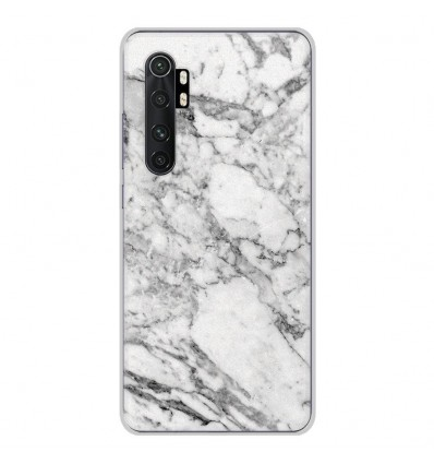 Coque en silicone Xiaomi Mi Note 10 lite - Marbre Blanc
