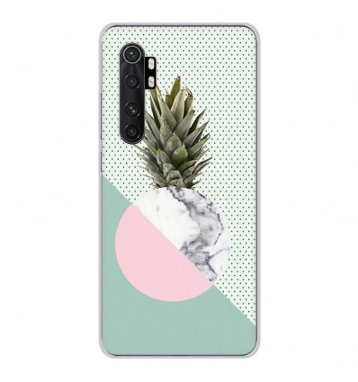 Coque en silicone Xiaomi Mi Note 10 lite - Ananas marbre