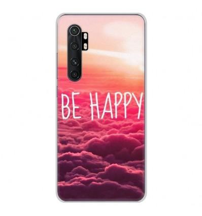 Coque en silicone Xiaomi Mi Note 10 lite - Be Happy nuage