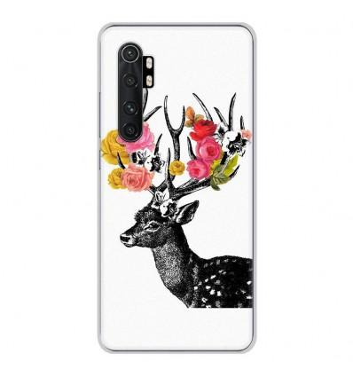 Coque en silicone pour Xiaomi Mi Note 10 lite - Cerf fleurs