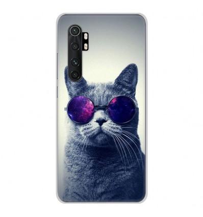 Coque en silicone Xiaomi Mi Note 10 lite - Chat à lunette