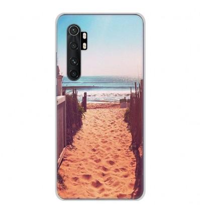 Coque en silicone pour Xiaomi Mi Note 10 lite - Chemin de plage