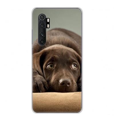 Coque en silicone pour Xiaomi Mi Note 10 lite - Chiot marron
