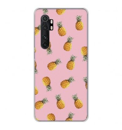 Coque en silicone Xiaomi Mi Note 10 lite - Pluie d'ananas