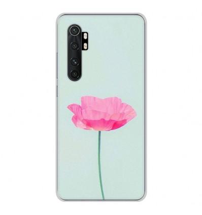 Coque en silicone Xiaomi Mi Note 10 lite - Fleur Rose