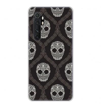 Coque en silicone Xiaomi Mi Note 10 lite - Floral skull