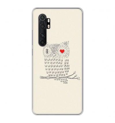 Coque en silicone Xiaomi Mi Note 10 lite - I Love Hiboux
