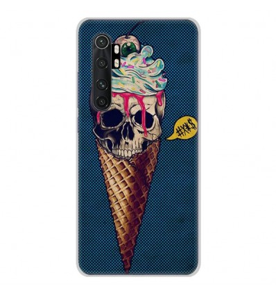 Coque en silicone Xiaomi Mi Note 10 lite - Ice cream skull blue