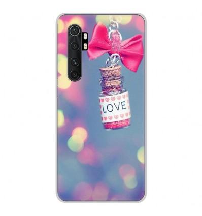 Coque en silicone Xiaomi Mi Note 10 lite - Love noeud rose